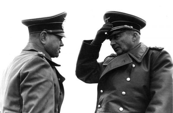"""W lipcu 1944 roku feldmarszałek von Kluge ocenił, że linia niemieckiej obrony na Zachodzie wytrzyma jeszcze """"dwa, może trzy tygodnie""""."""