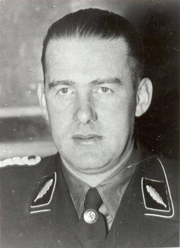 """SS-Brigadeführer Odilo Globocnik, szef """"Aktion Reinhardt"""", akcji zagłady Żydów z Generalnego Gubernatorstwa i Okręgu Białostockiego, przeprowadzonej w latach 1942-1943."""