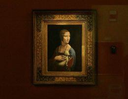 Dama z łasiczką, obraz Leonarda DaVinci (fot. Cezary Piwowarski, lic. GNU FDL)