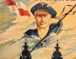 Nazistowski plakat propagandowy zachęcający do wstępowania do Kriegsmarine (fot. domena publiczna)