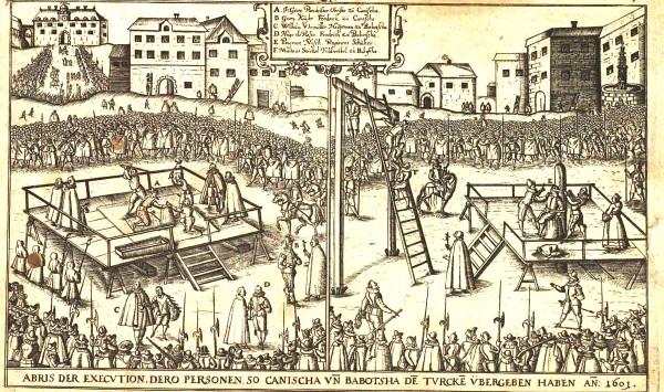 W mniej cywilizowanych czsach egzekucje były publicznymi spektaklami, w czasie których gawiedź napawała oczy cierpieniem skazańca (fot. domena publiczna)