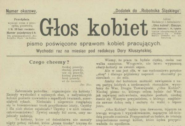 """""""Głos kobiet"""" odzwierciedlał poglądy polskich socjalistów w sprawach kobiecych."""