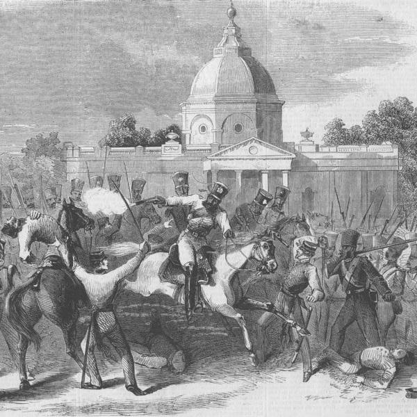 Powstańcom udało się na szereg tygodni opanować stolicę kraju, Delhi.