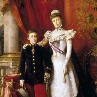 Alfons XIII został królem Hiszpanii zaraz po urodzeniu, ale do 1902 władzę regencyjną w państwie sprawowała jego matka.