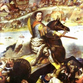 Sobieski uzyskał koronę między innymi dzięki swojemu zwycięstwu nad Turkami pod Chocimiem.