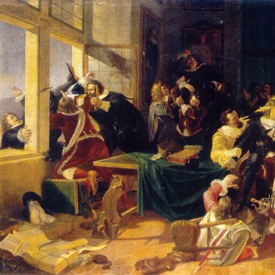 Praska defenestracja stała się bezpośrednią przyczyną wybuchu wojny trzydziestoletniej.