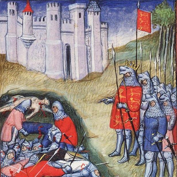Jedną z ważniejszych bitew pierwszej fazy wojny stuletniej była bitwa pod Crécy w 1346 roku.