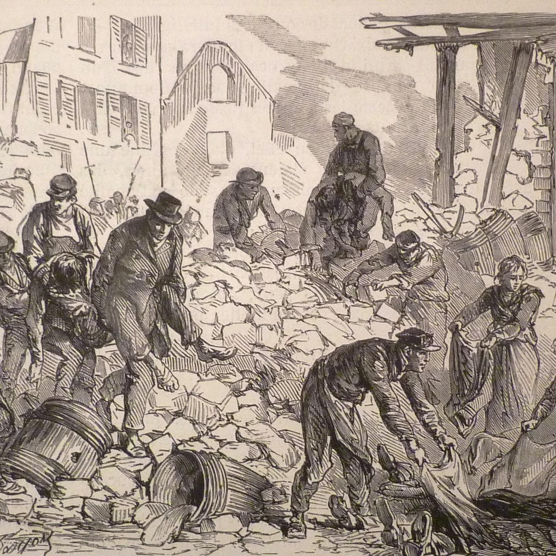 W walkach na ulicach Paryża zginęło nawet kilka tysięcy komunardów. Mieszkańcy pochowali ich w masowych grobach.