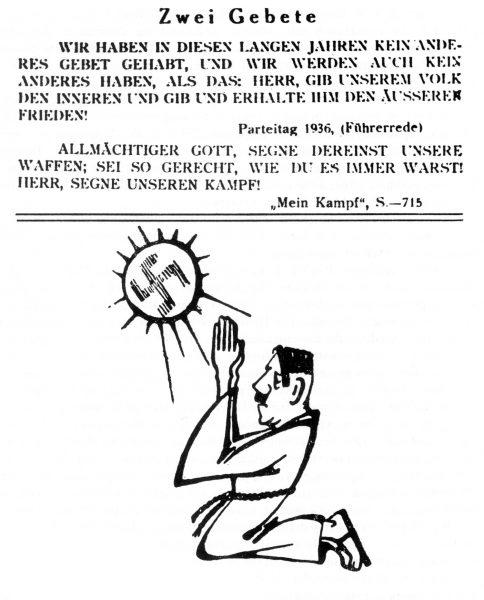 """Strona z broszury dywersyjnej """"Der Grösste Lügner der Welt"""" jednej z publikacji Akcji """"N""""."""