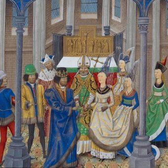 Sojusz między Anglią i Portugalią przypieczętowało małżeństwo króla Portugalii, Jana I Dobrego, z Filipą Lancaster, córką Jana z Gandawy, księcia Lancaster.