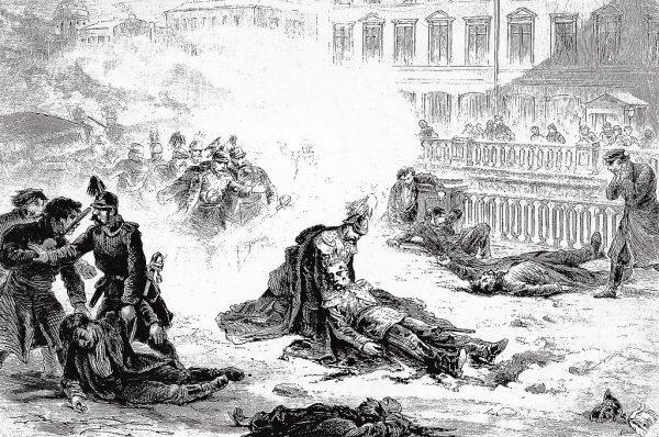 """Organizacja """"Narodna Wola"""" była odpowiedzialna między innymi za udany zamach na cara Aleksandra II w 1881 roku."""