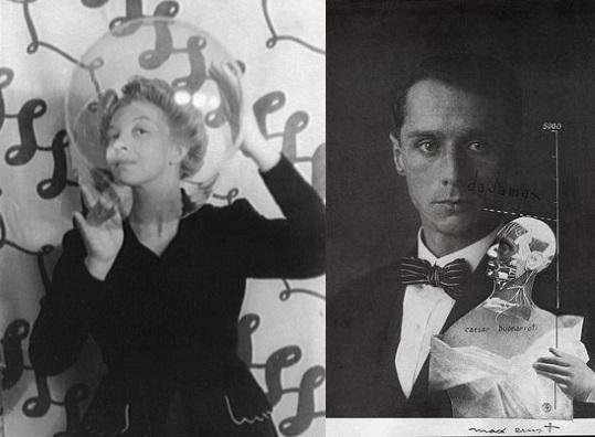 """Leonor Fini (na zdjęciu po lewej) była argentyńską malarką surrealistyczną pochodzenia włoskiego. Jej kochanek Max Ernst (na zdjęciu po prawej) nazwał ją """"Furia Italiana"""" tak ze względu na jej temperament, jak i oryginalną twórczość."""