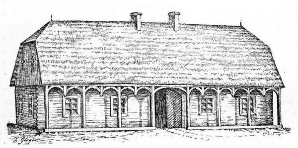 Do XIV wieku w karczmach zawierano nawet śluby. Na ilustracji XVIII-wieczna gospoda w Osowcu.