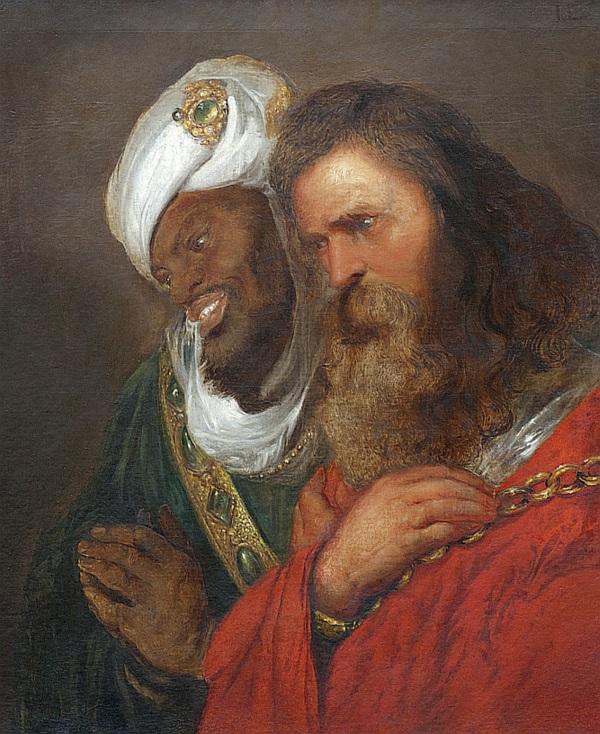Saladyn i Guy de Lusignan (fot. domena publiczna)