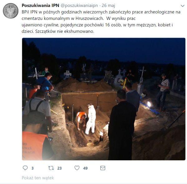 Screen z oficjalnego konta Biura Poszukiwań i Identyfikacji IPN w serwisie Twitter