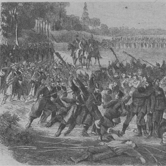 Rzeź powstańców pod Częstoborowicami.