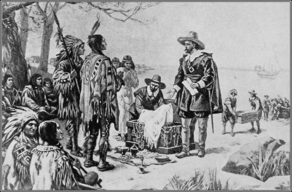 To gubernatorowi Peterowi Minuitowi przypisuje się zakup wyspy Manhattan w 1626 roku. Wyspa nie kosztowała jednak dwadzieścia cztery dolary (jak głosi legenda), ale ok. tysiąca.