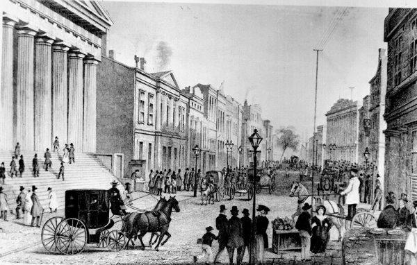 Giełda, która powstała przy Wall Street (na ilustracji widok na ulicę z rogu Broad Street w 1867 roku) stała się największym centrum finansowym świata. Wkrótce sam Nowy Jork osiągnął status gospodarczej potęgi.