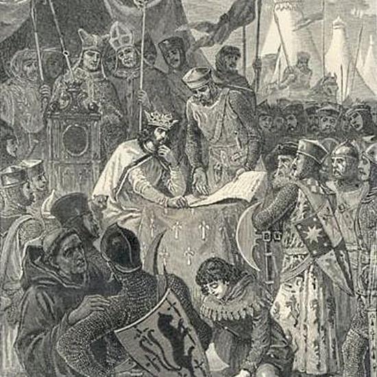 Jan bez Ziemi podpisał Wielką Kartę Swobód pod naciskiem możnowładców.
