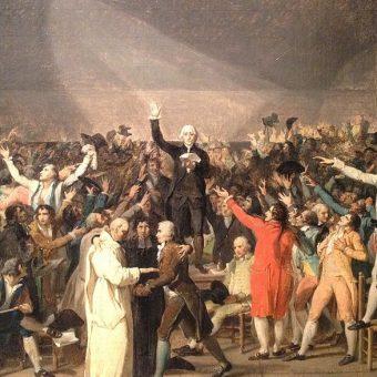 Przysięga w sali do gry w piłkę była jednym z decydujących momentów rewolucji francuskiej.