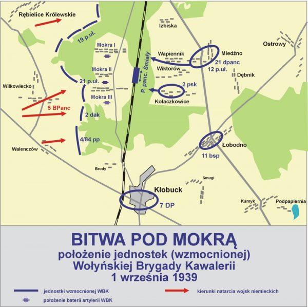 W bitwie pod Mokrą naprzeciwko siebie stanęły 4 Dywizja Pancerna generała Reinhardta i Wołyńska Brygada Kawalerii pułkownika Filipowicza.