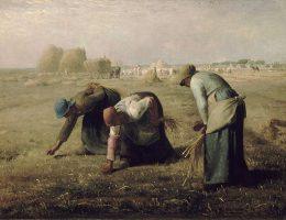 Czy to właśnie folwarki były podstawą gospodarki I RP? Na zdjęciu Jean-François Millet Kobiety zbierające kłosy, 1857.