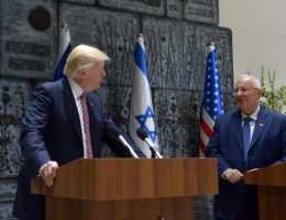 Donald Trump i Reuven Rivlin (fot. חיים צח Government Press Office of Israel - Haim Zach, lic. CCA SA 4.0)