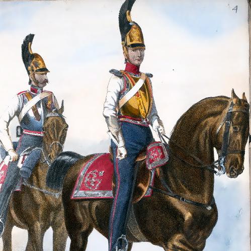 Kawaleria rosyjska w XIX wieku.