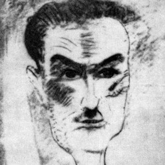 Tadeusz Boy-Żeleński na portrecie wykonanym przez Witkacego. Rok 1930
