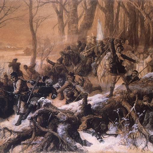 Walka powstańcza (Scena z powstania 1863 roku), Michał Elwiro Andriolli