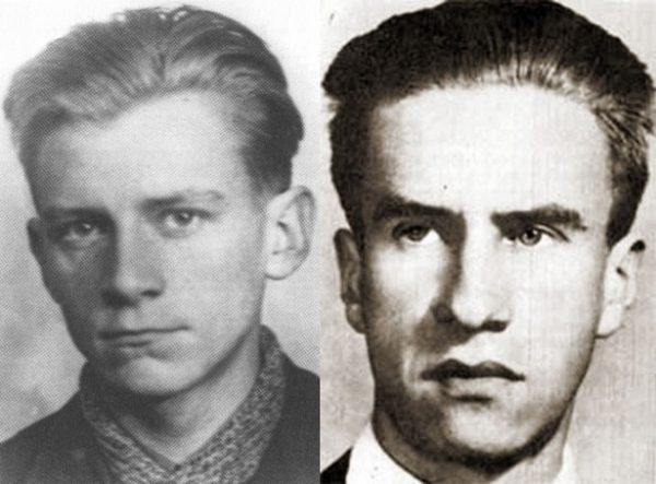 """Akcja została zorganizowana, by uratować Jana Bytnara """"Rudego"""" (z lewej). Dowodził nią podchorąży Stanisław Broniewski """"Orsza"""" (z prawej)."""