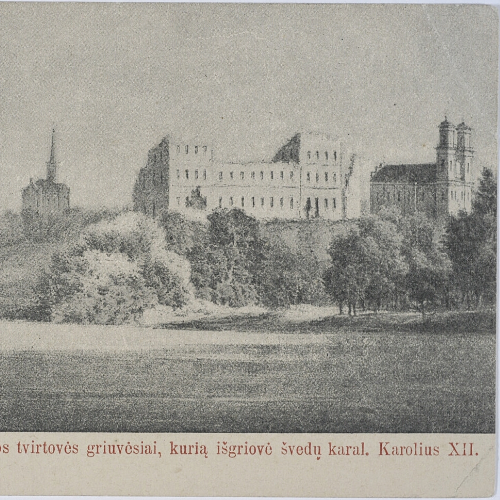 Wojska polskie starły się z oddziałami nieopodal Birż. Na zdjęciu pocztówka przedstawiająca wspomnianą miejscowość.