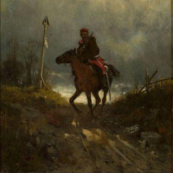 Maksymilian Gierymski, Powstaniec z 1863 roku.