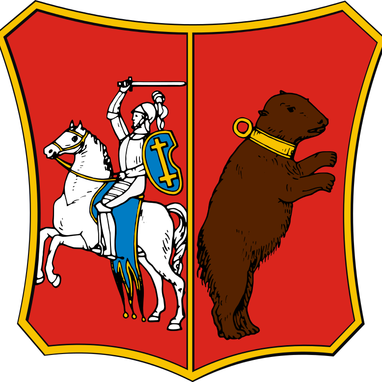Herb guberni augustowskiej, do której administracyjnie przynależała miejscowość Gruszki.