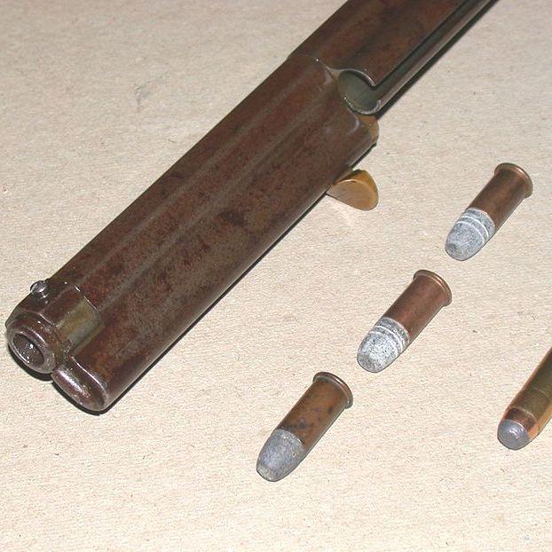 W trakcie powstania urywano kilku typów karabinów. Na zdjęciu karabin Henry'ego.