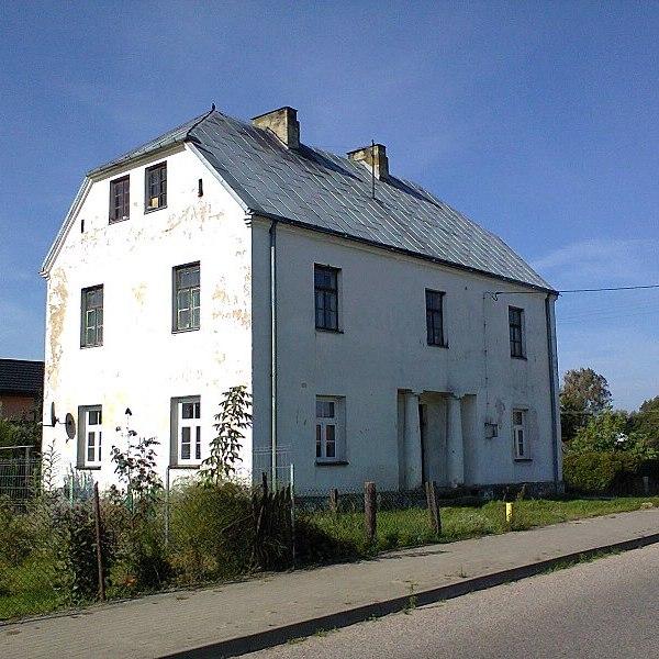 Budynek dawnej komory celnej w Wincencie zniszczonej w 1939 r.