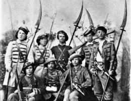 Kosynierzy byli ochotniczą formacją wojska polskiego w czasie Powstania Styczniowego. Odegrali także ważną rolę w bitwie pod Naguszewem.