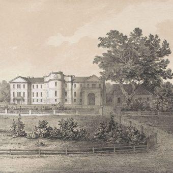 Zamek w Sławucie, obok której doszło do starcia.