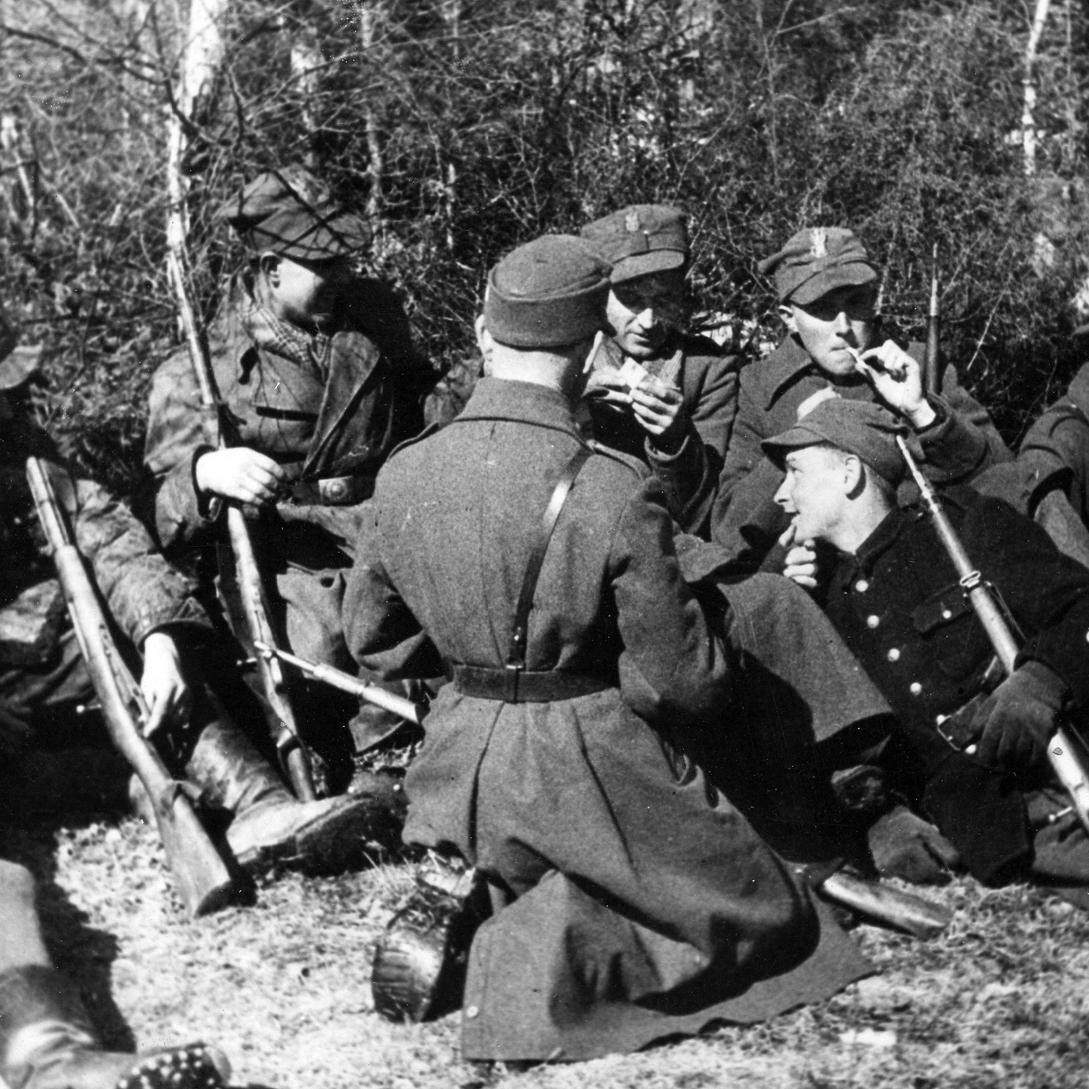 Żołnierze 27 Wołyńskiej Dywizji Piechoty.