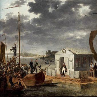 Traktat francusko-rosyjski został podpisany na tratwie zacumowanej na środku Niemna.