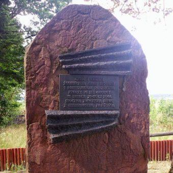 Pomnik upamiętniający bitwę pod Gruszką.