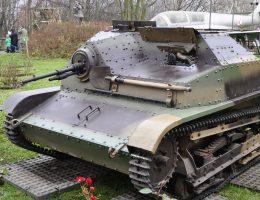 Tankietka TKS będąca na wyposażeniu brygady.