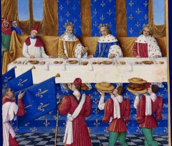 Codzienny obiad w zamku składał się z dwóch do trzech dań.