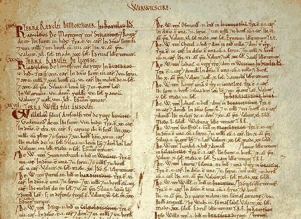 W spisie Domesday, który sporządzono na rozkaz Wilhelma Zdobywcy, chłopi traktowani są jako ludzie wolni.