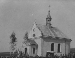 Kaplica wzniesionej na mogile poległych w walkach pod Dydiatynem.