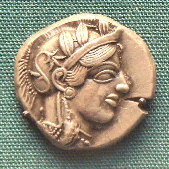 Grecka moneta, zdjęcie poglądowe (fot. PHGCOM, lic. GNU FDL)