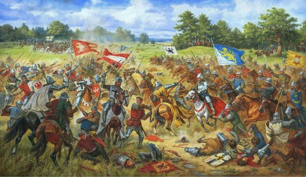 Bitwa pod Grunwaldem na obrazie Artura Orlonowa.