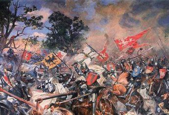 Bitwa pod Grunwaldem na obrazie Wojciecha Kossaka.
