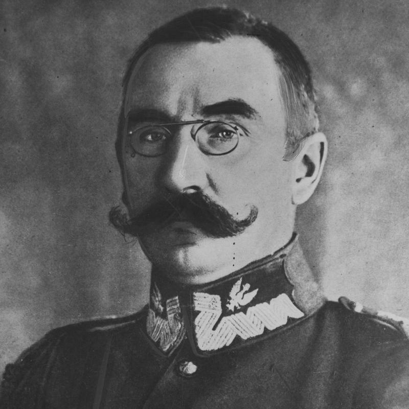 """Dowódca grupy """"Bug"""" Henryk Minkiewicz. Na zdjęciu już jako generał Wojska Polskiego."""