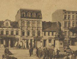Inowrocławski Rynek na pocztówce z około 1910 roku.